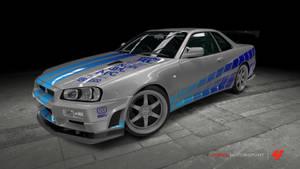 Nissan Skyline GT-R - 2 Fast 2 Furious by OutcastOne
