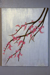 Cherry Blossom painting 1 by KassyOh