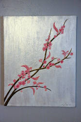 Cherry Blossom painting 2 by KassyOh