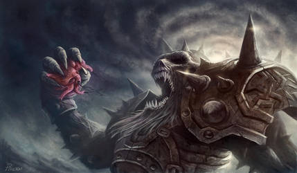 Skeleton Warrior by PhanouArt