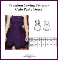 Premium Sewing Pattern - Cute Party Dress by StarValkyrie