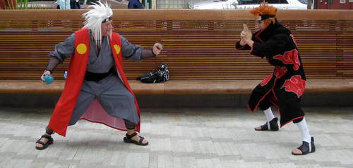 Pain Vs. Jiraiya II by camname21