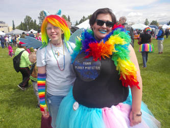 Anchorage Pridefest 2017. Me and my friend Henri by narutofan657