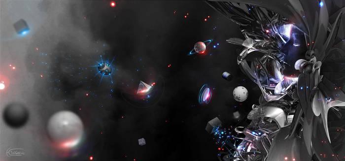 spaceship by kitkat523