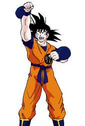 Goku with kettlebells by ForgedwithFire