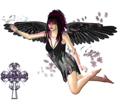 Black Snow Angel by sweetpoison67