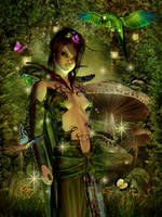 Forest Elf on Mushrooms by sweetpoison67