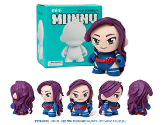 Psylocke (xmen) Kidrobot Munny Custom by cari
