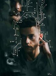 Elliot Alderson   Mr. Robot   Portrait by cari