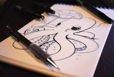 Sad Octopus WIP by madscott