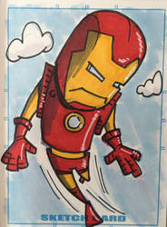 Ironman Sketch Card by madscott
