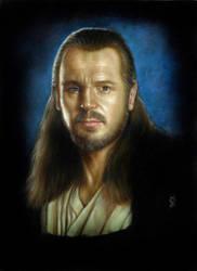 Qui Gon Jinn painting by Melanarus