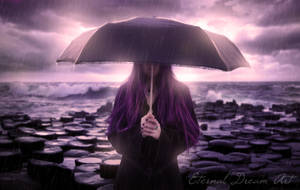 Alone with the rain by Eternal-Dream-Art