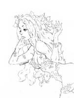 pencil art Poison Ivy by La-h-i-n-a-y-u-m-e