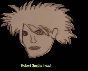 Robert Smith face by ghost-chiildren
