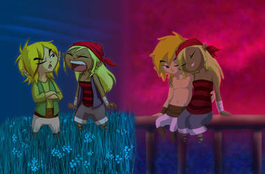 Link and Tetra: Adolescence by BeagleTsuin