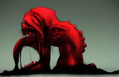 Creeping Giygas by BeagleTsuin