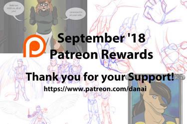 September Patreon Rewards by DragonessDeanna