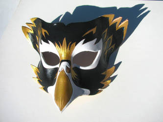 Black and Gold Bird Mask by jonorr