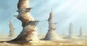 Desert villages by malachi78