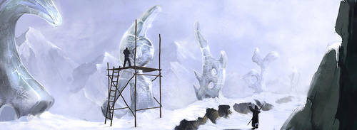 Ice statues by malachi78