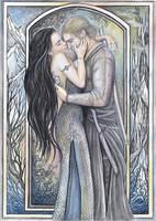 Phedre and Joscelin by JankaLateckova