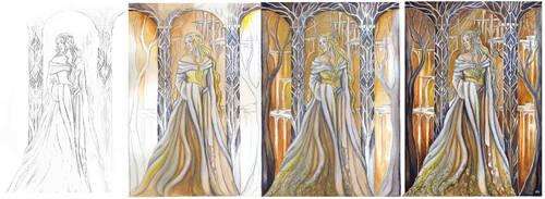 WIP - Queen of Mirkwood by JankaLateckova