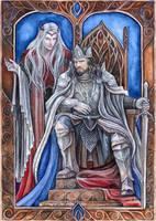 Sauron and Ar-Pharazon by JankaLateckova