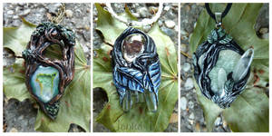 Nature inspired pendants by JankaLateckova