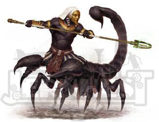 Hombre escorpion de Hamuset by Jernhest