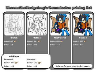 2018 - Commission List by sheenathehedgehog
