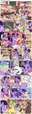 Comic - Twilight's First Day #18 by Muffinshire by doktorwhooves