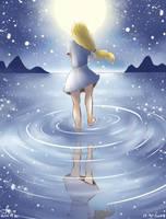 Girl and Moonlight by ferenmarcelina