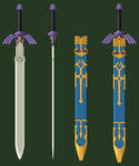 Master Sword And Scabbard by turpinator77