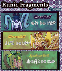Runic Fragments: No Evil ($1/100 point sb- CLOSED) by Yurei-Pon