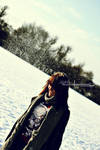 Vintage Girl In The Snow. by ElementaryDearWatson