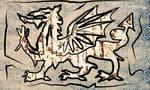 Vintage Welsh Dragon Flag. by ElementaryDearWatson