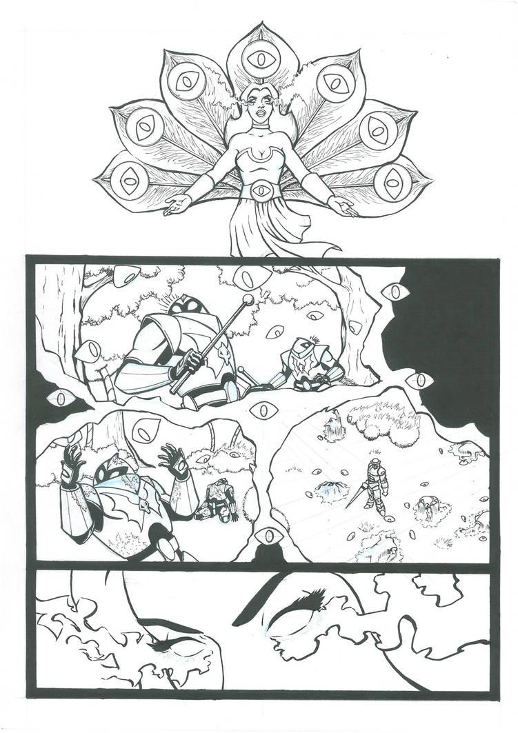 Peekablue Section Page 02 Lineart by MotU85