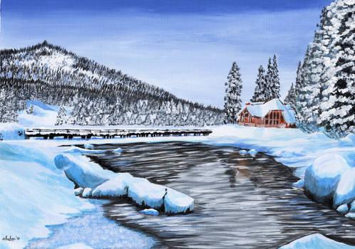 Winter acrylic by alechan92