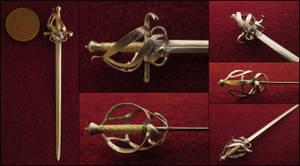 Beautiful Basket Hilt Sword by AtriellMe