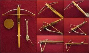 Heavy Medieval Crossbow With Cranequin Spanner by AtriellMe