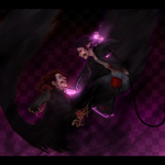 Bloody Spade : Iori vs. Kaine by BrittanyWillows