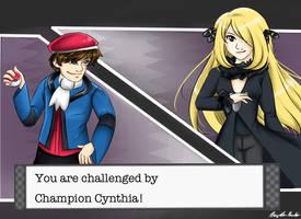 Chuggaaconroy VS. Cynthia by japanindisguise