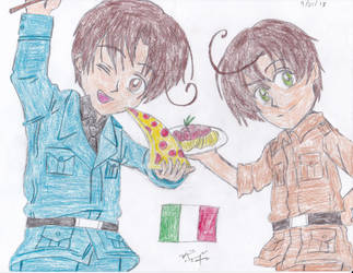 Hetalia Italy Bros. by animaniac21285