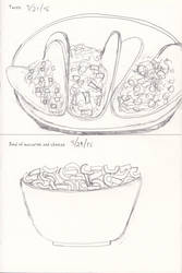 Tacos and a Bowl of Macaroni and Cheese by animaniac21285