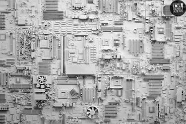 Circuit Board City by deepkitsch