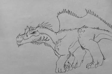 Razorback Spinosaurus by MonsterMasher137