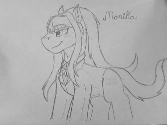 Monika (WIP) by MonsterMasher137