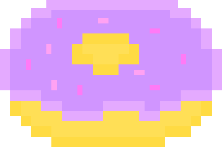 Pixel Art Donut By Kool Aid Cultist