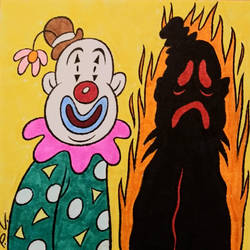 Day 19: Scorched/Someone Cloned My Clown by LooneyLion